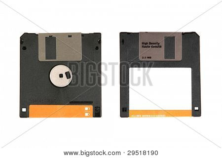 Floppy Disk front and back view.