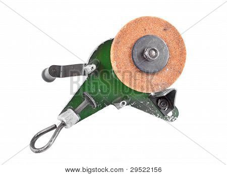 Mechanical grindstone with vice