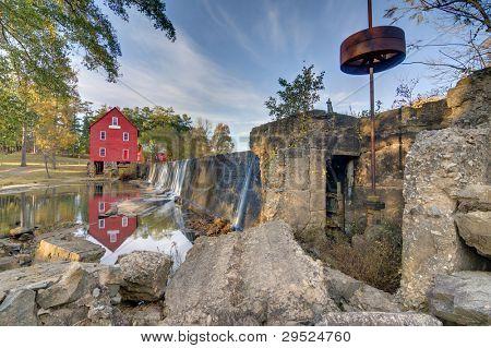 Ol' Grist Mill in Fayetteville, Georgia, USA.
