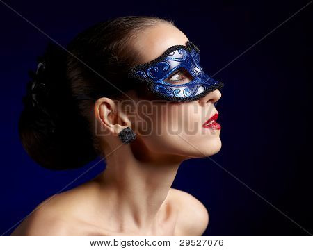 Gorgeous Woman In Mask