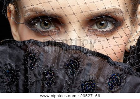 Gorgeous Woman In Veil