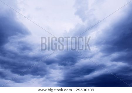 Dark cloudy sky background