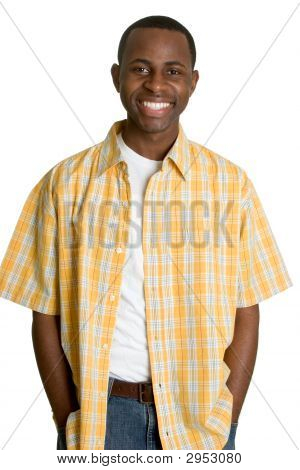 Casual Smiling Black Man