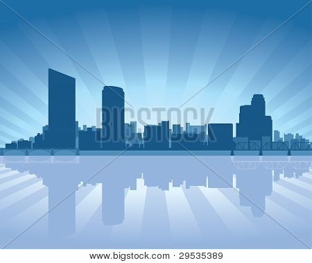 Grand Rapids, Michigan Skyline