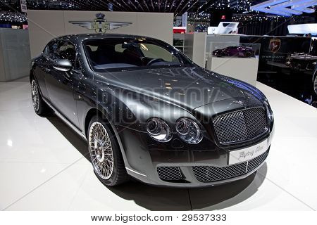 GENEVA - MARCH 8: The new Bentley Continental