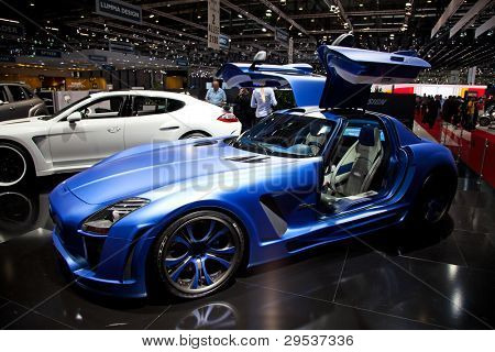 GENEVA - MARCH 8: The Fab Design car on display at the 81st International Motor Show Palexpo-Geneva on March 8, 2011  in Geneva, Switzerland.