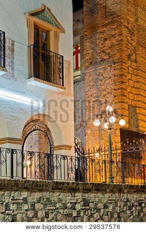 Parish Church of Our Lady of Guadalupe at night, Puerto Vallarta, Mexico