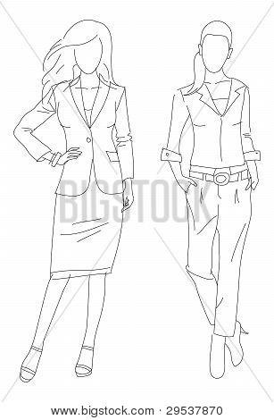 Fashion illustration business women