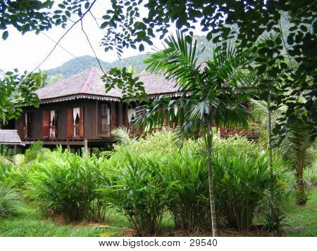 Malaysian Traditional House On Stilts