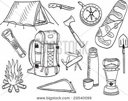 Camping Set - Sketch