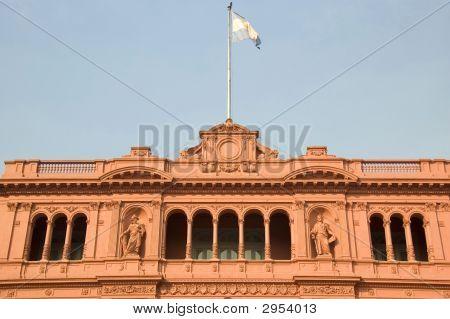 Famous Balcony Of The Casa Rosada In Argentina