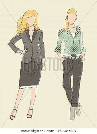 Fashion illustration business women