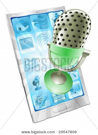 Microphone Phone App Concept
