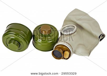 Gas Mask And Two Absorbers