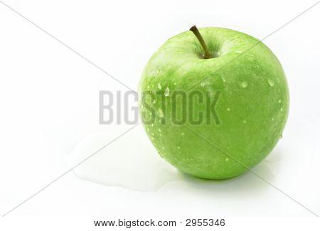 Granny Smith Apple White Background