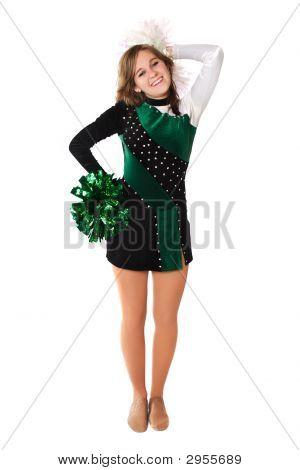 Girl In A Pom Pon Uniform
