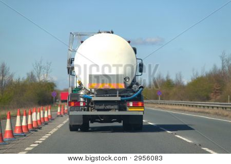 Fuel Tanker On Dual Carriageway