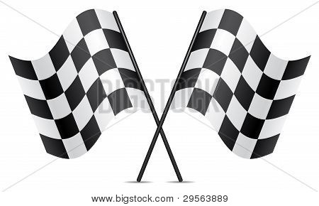 Vector Racing Flags