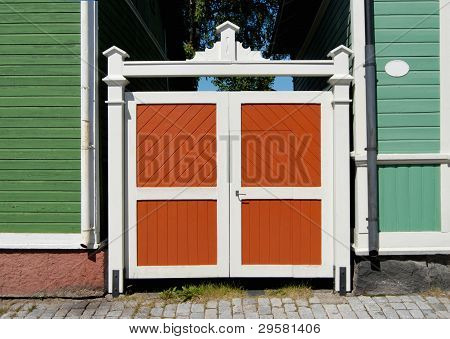 Colored Wooden Gate