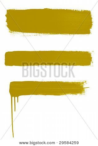 3 Gold Brushstrokes