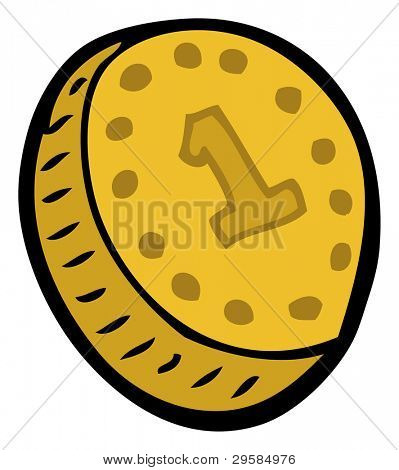 cartoon coin (raster version)