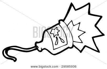 exploding party popper cartoon (raster version)