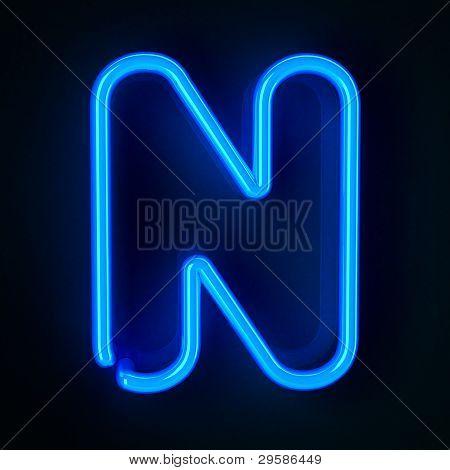 Neon Sign Letter N