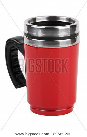 The Red Cup - Thermos With Black Handle