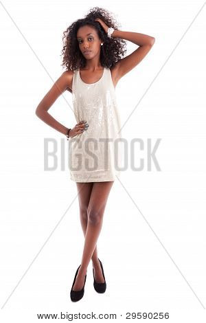 Young Beautiful African American Woman