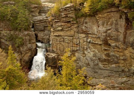Waterfall On Cliff-Side