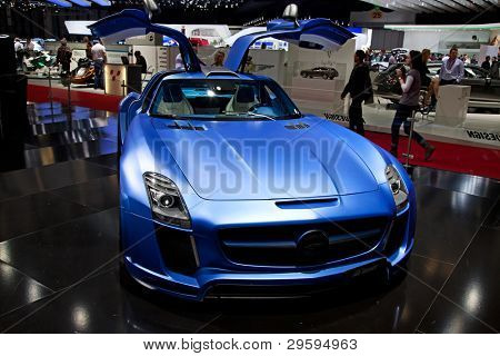 GENEVA - MARCH 8: The Fab Design car on display at the 81st International Motor Show Palexpo-Geneva on March 8; 2011  in Geneva, Switzerland.