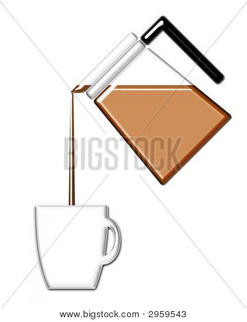 Coffee Pouring Into A Mug