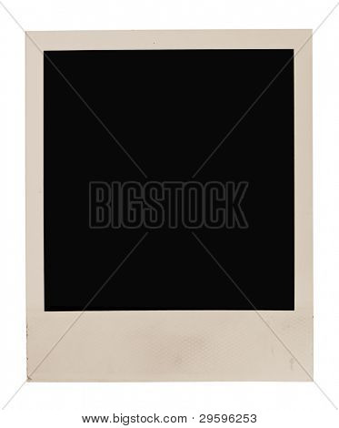 Blank photo frame isolated on white background