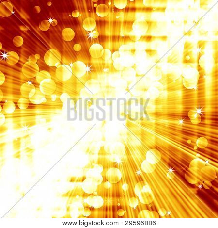 abstract background of golden squares and stripes