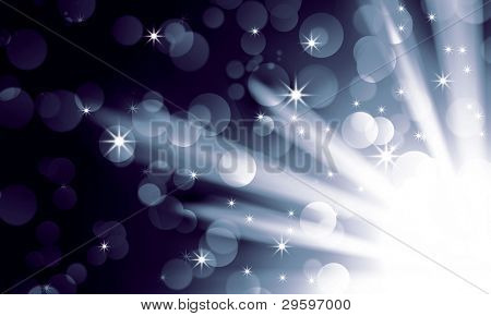 silver light spotlights on a dark background