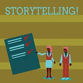 Handwriting Text Storytelling. Concept Meaning Activity Writing Stories For Publishing Them To Publi poster