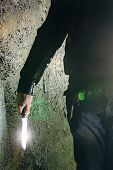 Maniac Killer With Knife In Hand, Close Up. poster