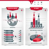 Set Of Charts And Demographics Containing Statistical Graphs, Info Graphic Elements, Icons, 3d Chart poster