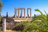 Temple Of Olympian Zeus, Athens, Greece. It Is One Of The Top Landmarks Of Athens. Famous Ancient Gr poster
