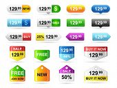 stock photo of tariff  - Colored price tags - JPG