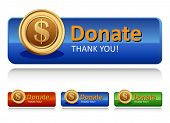 stock photo of charity relief work  - Donation button - JPG