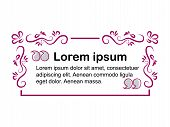 Vector Frame For Text. Form Design For Text. Block Text On The Site. Design Block With A Note. Frame poster