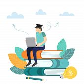 Education, Online Training Courses, Distance Education. Internet Studying, Online Book, Tutorials, O poster