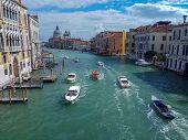 Grand Canal With Basilica Di Santa Maria Della Salute In Venice, Italy. View Of Venice Grand Canal.  poster