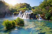 Krka Waterfalls On The Krka River, Croatia. poster