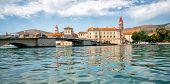 Old Town Of Trogir In Dalmatia, Croatia, Europe. poster