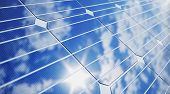 3d Illustration Solar Panels Close-up. Alternative Energy. Concept Of Renewable Energy. Ecological,  poster