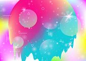 Universe Landscape With Holographic Cosmos And Abstract Future Background. Futuristic Gradient And S poster