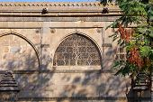 Sidi Saiyyed Mosque At Ahmedabad In The Indian State Of Gujarat poster