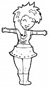image of groupies  - rocker girl cartoon  - JPG